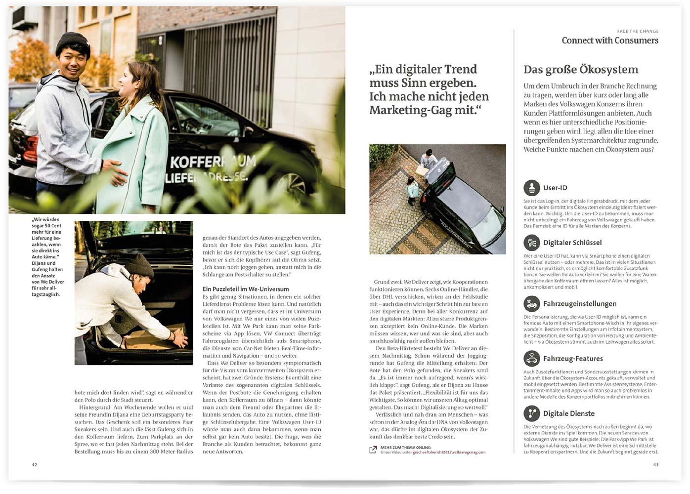 Volkswagen AG Geschäftsbericht 2018 | Patrick Weseloh | im Auftrag für C3 Creative Code and Content GmbH