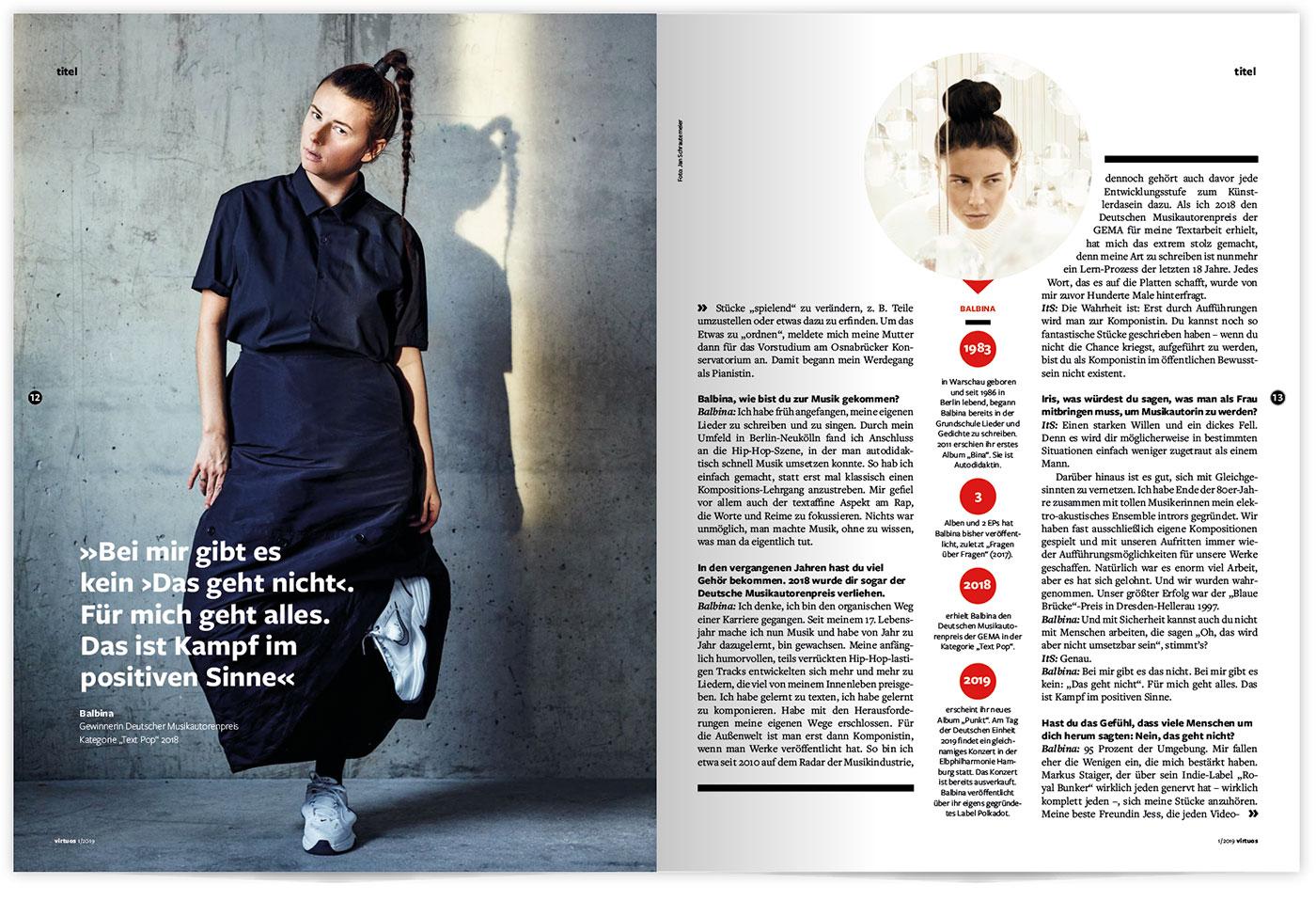 GEMA virtuos Magazin | 2019 Patrick Weseloh | weseloh.media | im Auftrag für einhorn solutions