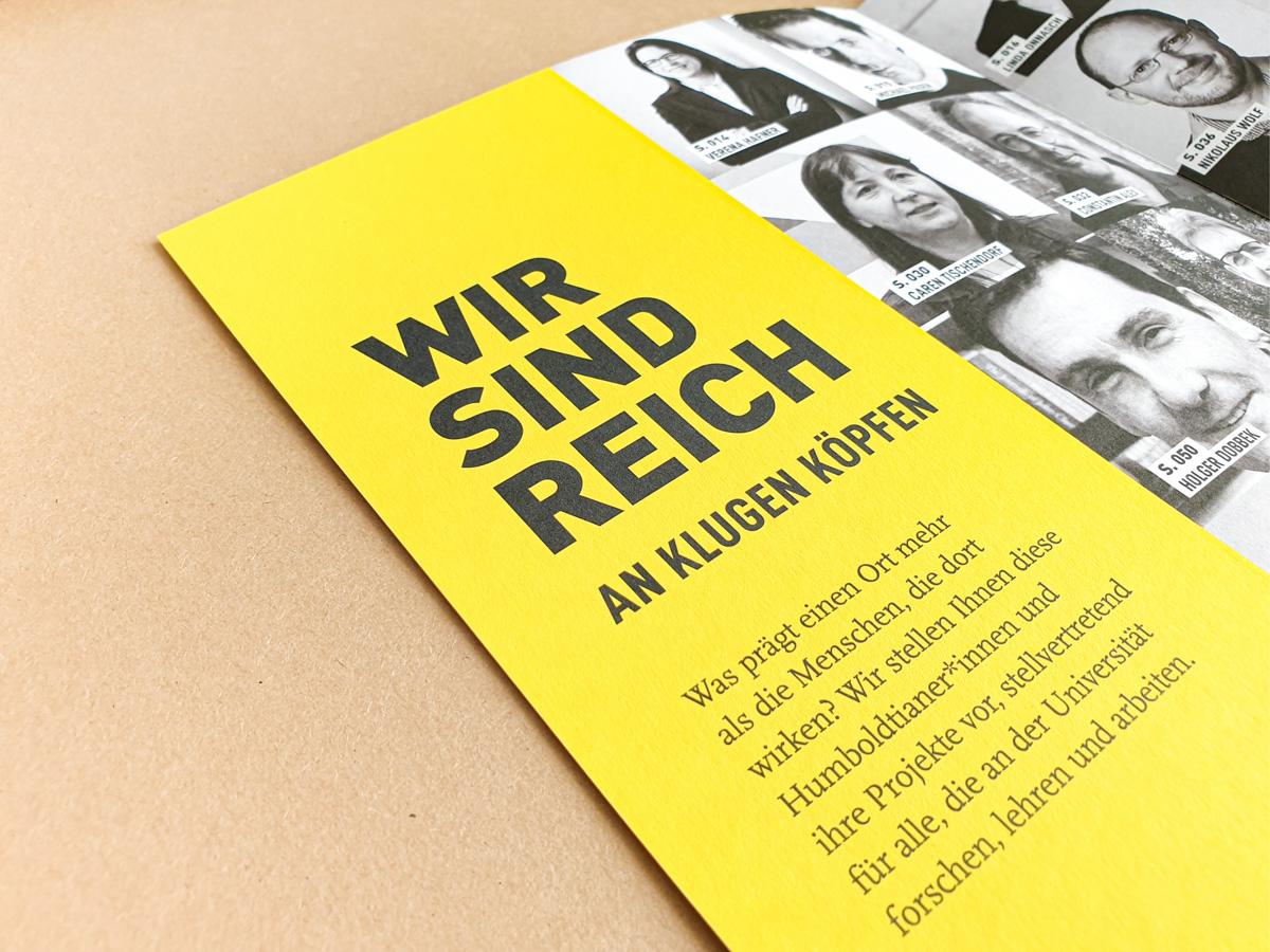 Imagebroschüre der Humboldt-Universität zu Berlin | © 2020 Patrick Weseloh | weseloh.media